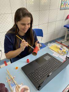 Aula maker para os alunos do ensino remoto